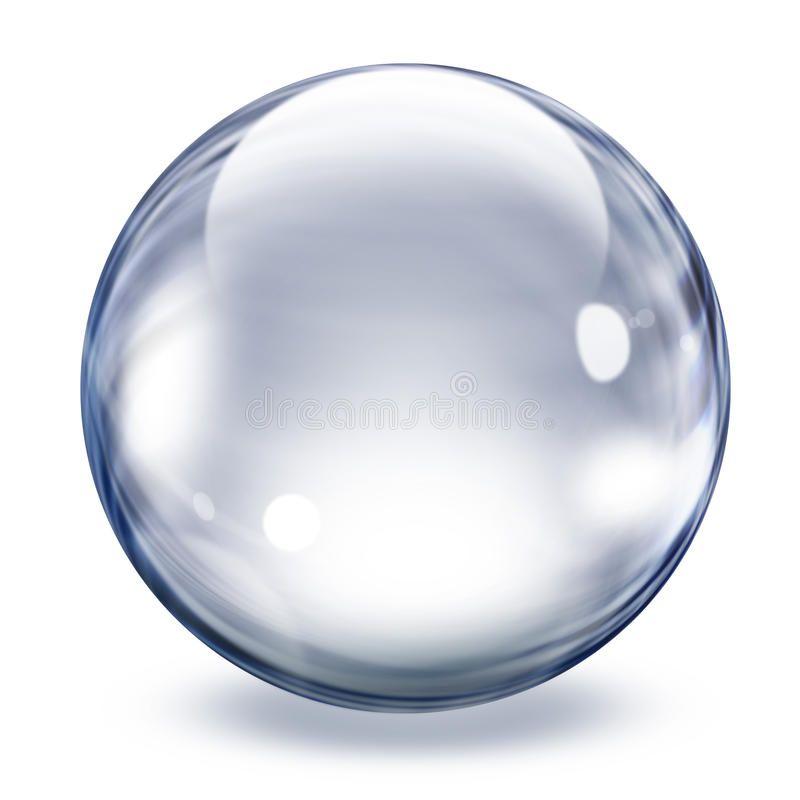 Transparent Glass Sphere Realistic Transparent Glass Sphere Illustration Ad Sphere Glass Trans Textured Background Elements Of Art Stock Illustration