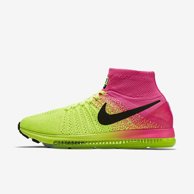 Nike Zoom All Out Flyknit OC Mens Running Shoes 12 Volt Hyper Pink 845716  999 #