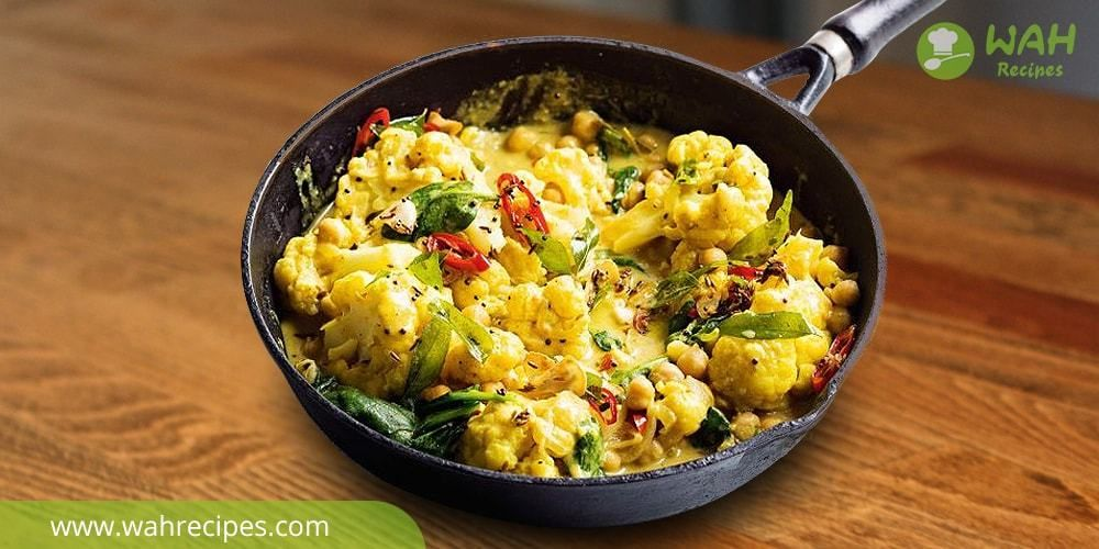 Creamy cauliflower coconut milk gravy curry recipe at home