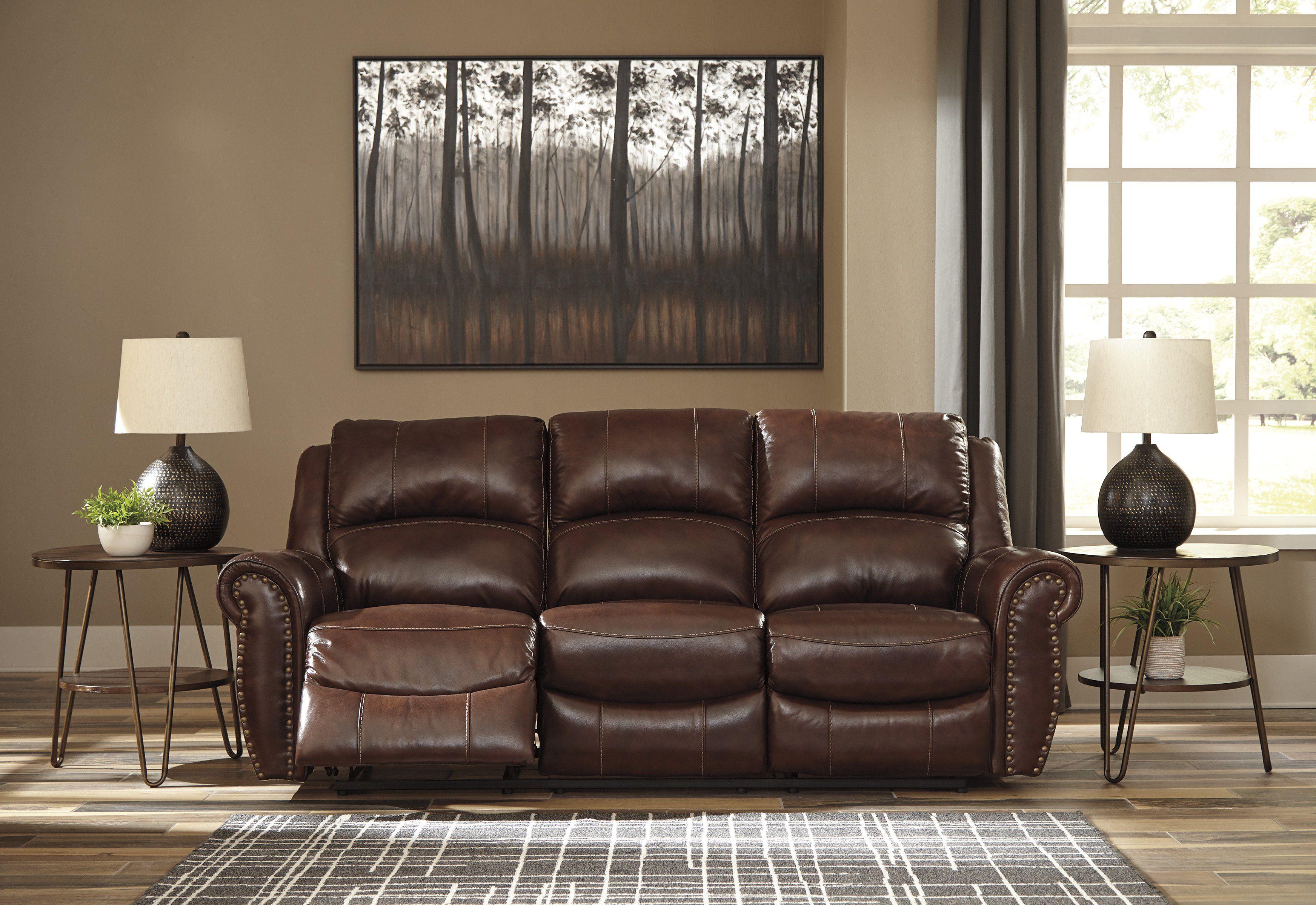 Signature Design U4280288 Bingen Brown Leather Finish Sofa In 2019 Signature Design Sofa