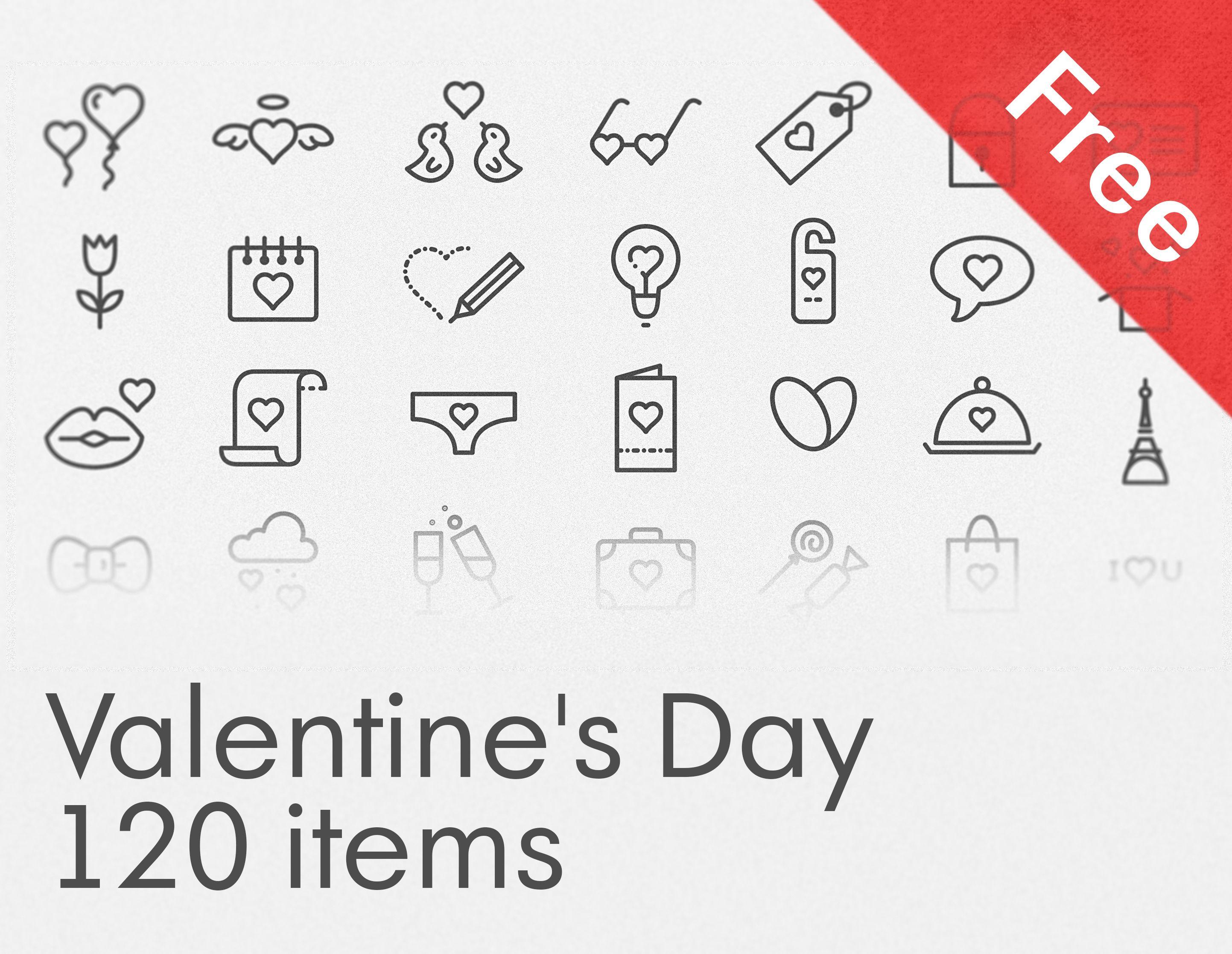 """다음 @Behance 프로젝트 확인: """"Free Valentine's Day icon set"""" https://www.behance.net/gallery/32734891/Free-Valentines-Day-icon-set"""