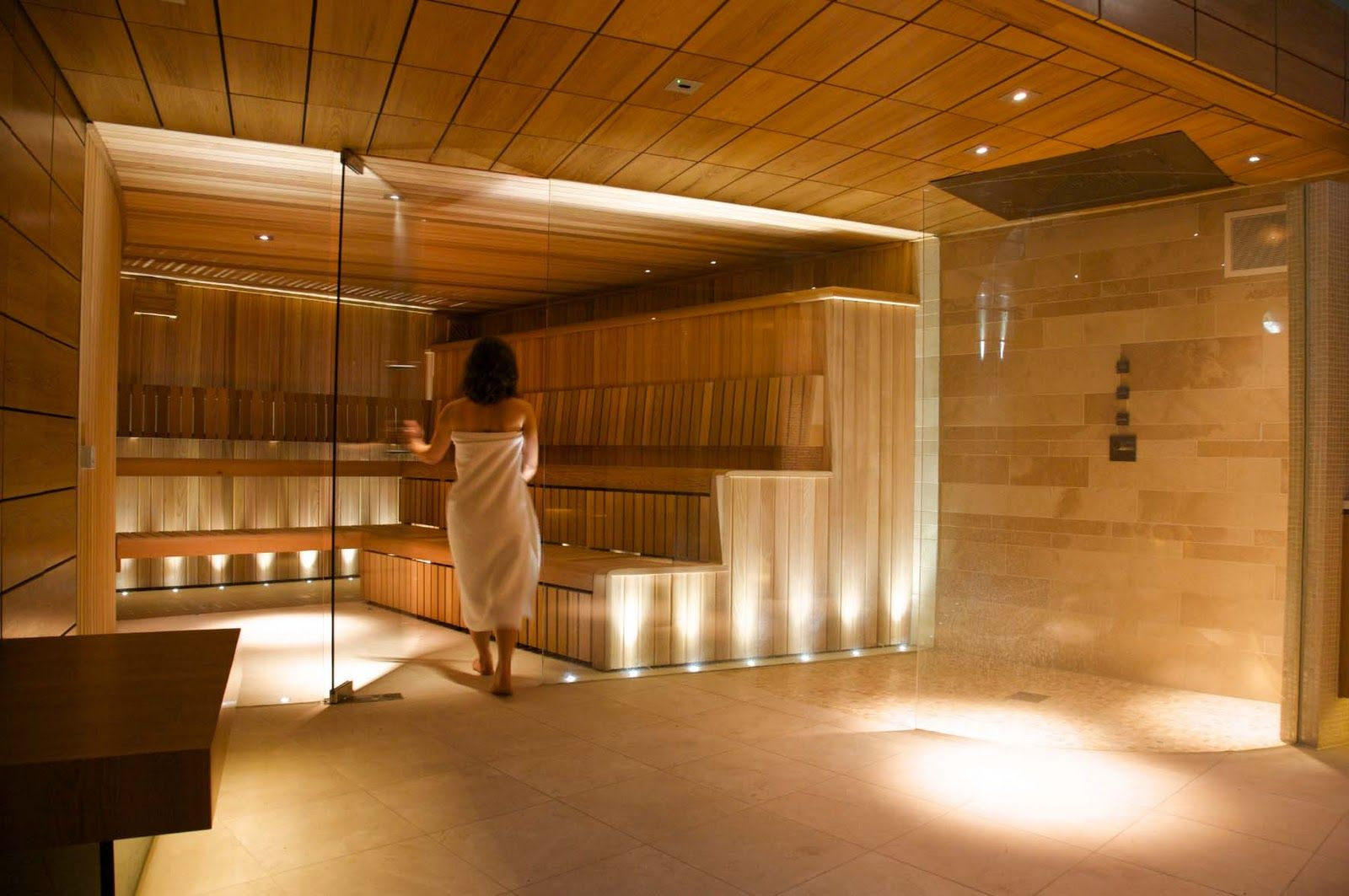 Commercial saunas the steam room and spa areas are for Sauna design plans