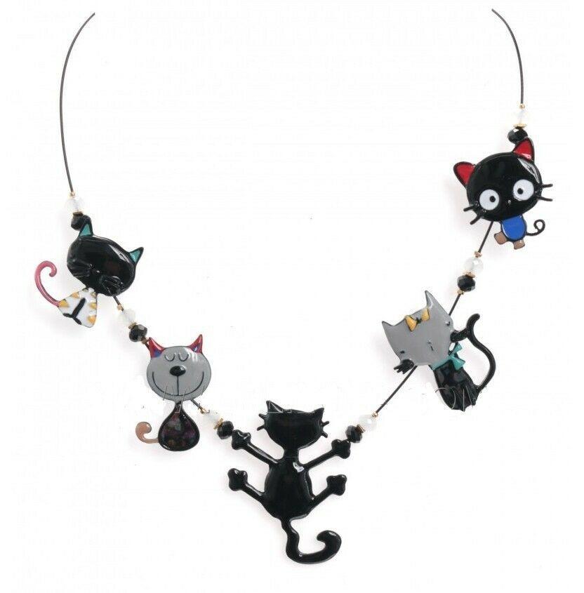 prix raisonnable magasin d'usine plus bas rabais BIJOUX LOL collier chat noir gris oscar ras de cou LOLILOTA ...