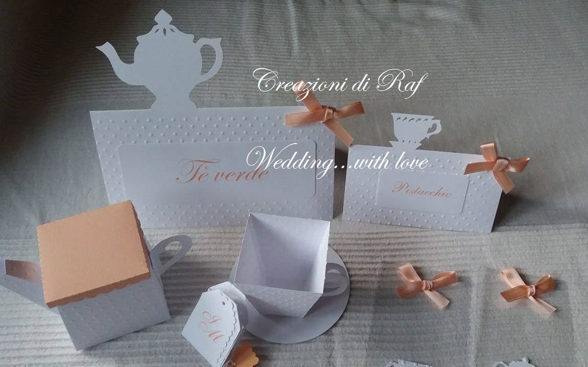 Matrimonio Tema Tè : Set per matrimonio a tema tè segnatavolo con silhouette