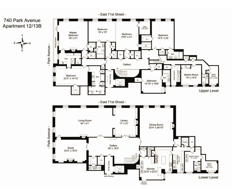 740 park avenue old new york apartment floor plan nice