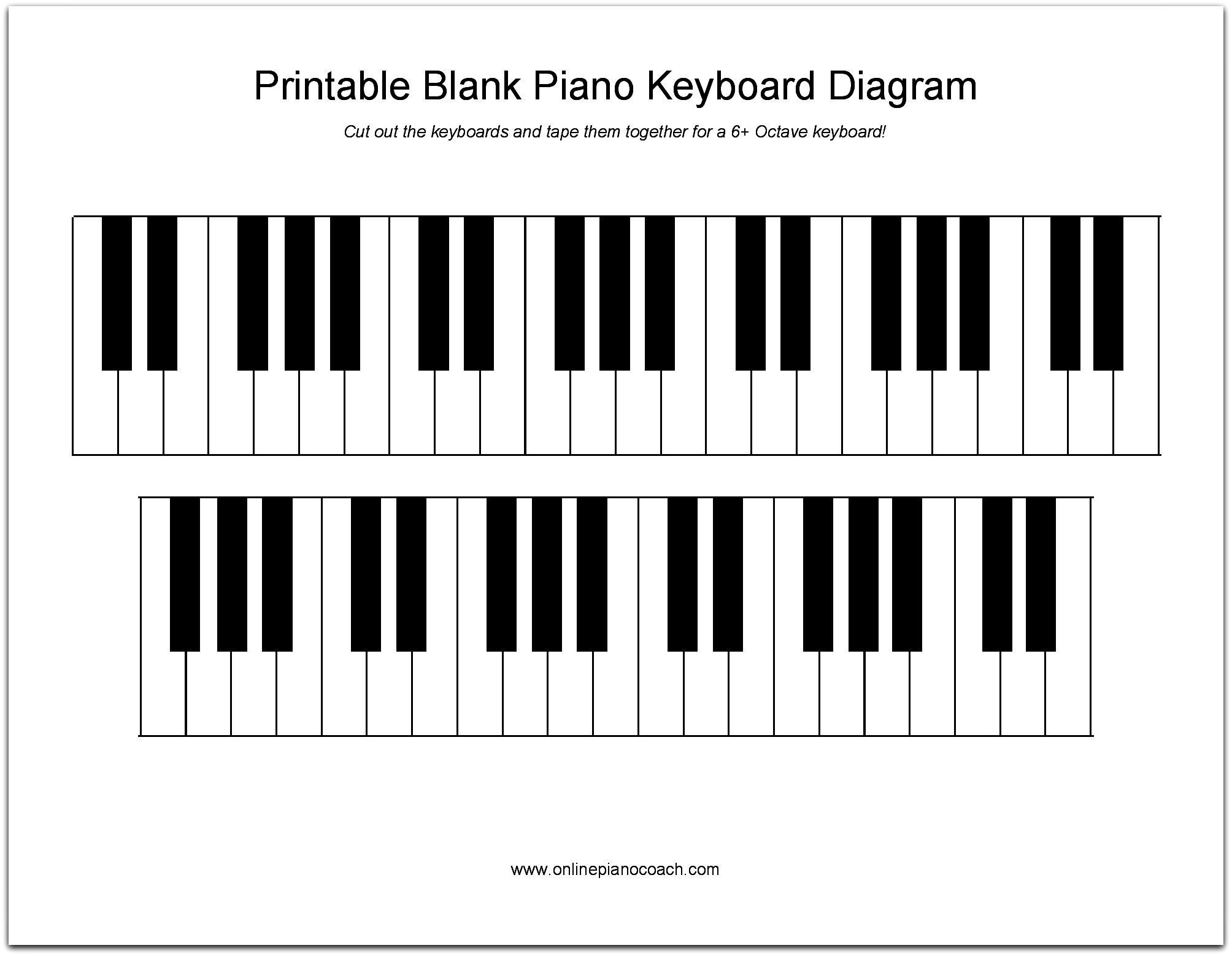 Printable Piano Keyboard Diagram With Images Keyboard Lessons