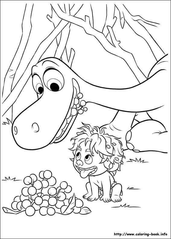 The Good Dinosaur coloring picture | Color me pretty - Young ones ...