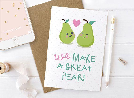Niedlichen Valentine Valentines Karte, süße Liebe, Geburtstag Karte ...