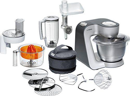 Bosch MUM56340 Küchenmaschine Styline MUM5 (900 Watt, Edelstahl - Philips Cucina Küchenmaschine