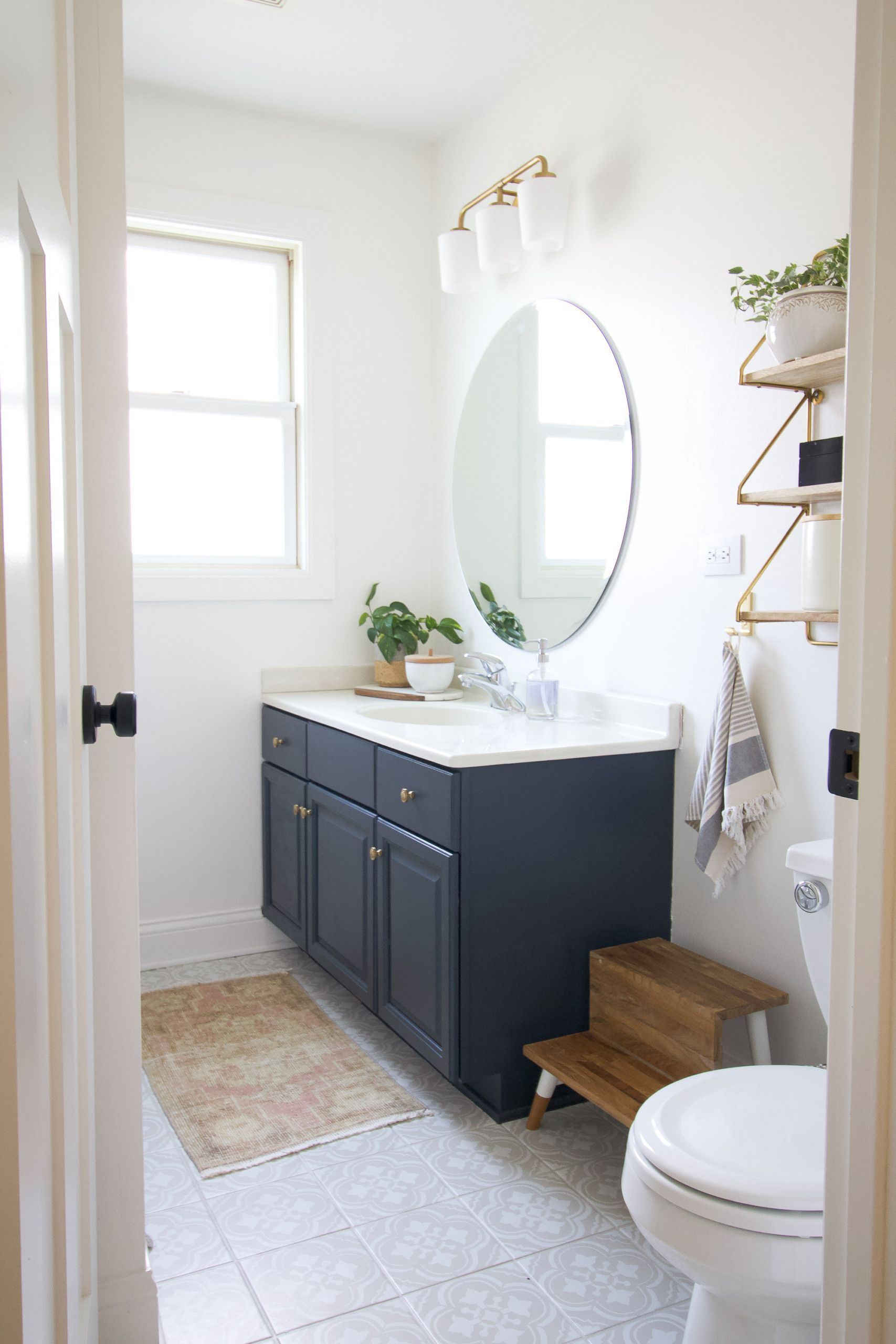 How To Add Value To Your Home The Diy Playbook In 2021 Bathroom Makeover Painted Bathroom Floors Upstairs Bathrooms