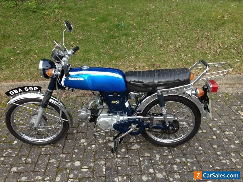 honda ss50 sports moped 1975 49cc blue excellent. Black Bedroom Furniture Sets. Home Design Ideas