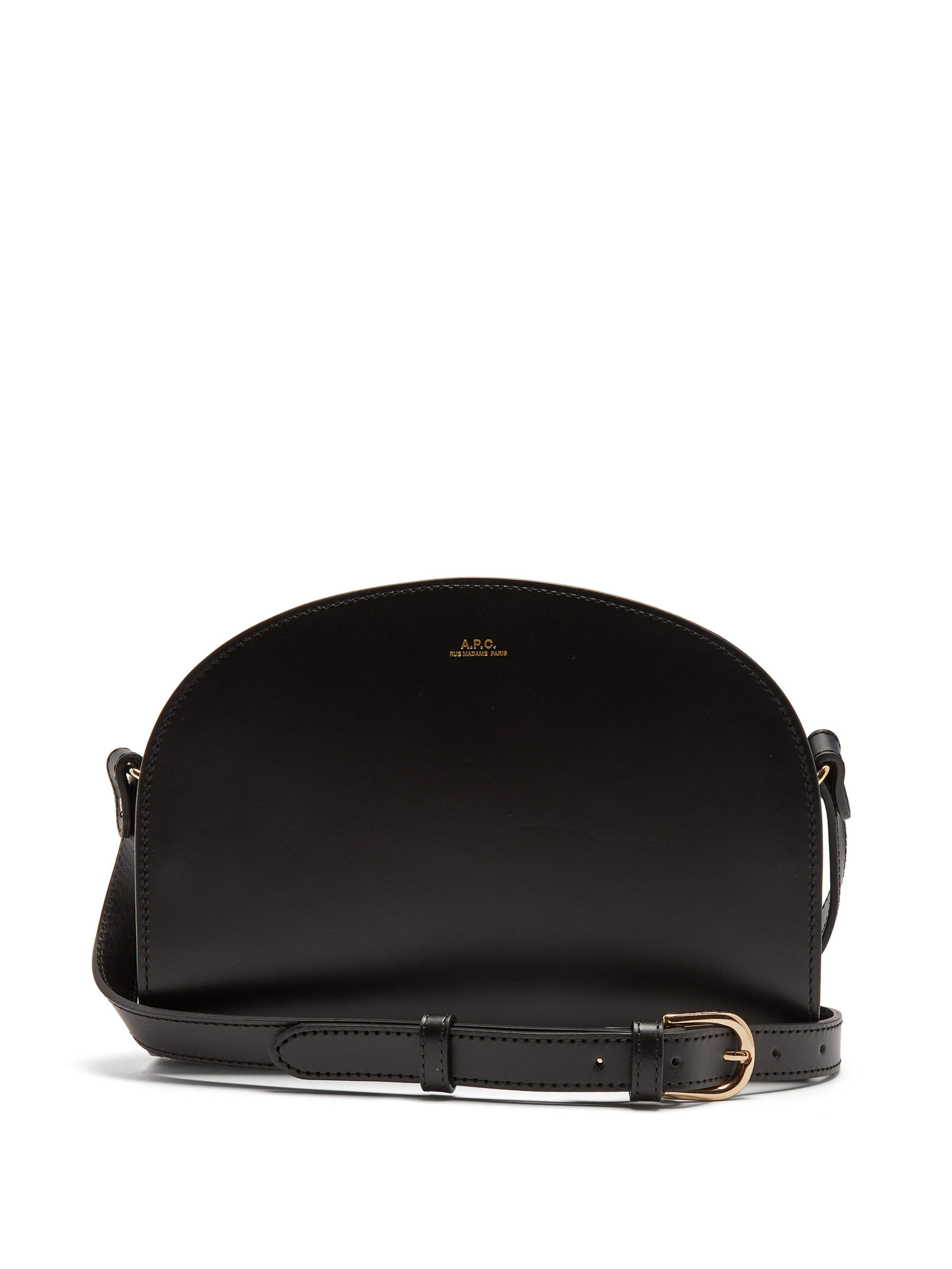 15b800cc1b Women's Black Half Moon Leather Cross Body Bag | shoulder bags ...
