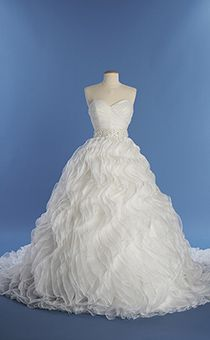disney ariel wedding dress. a woman wearing the ariel wedding gown from alfred angelo bridal collection disney dress i