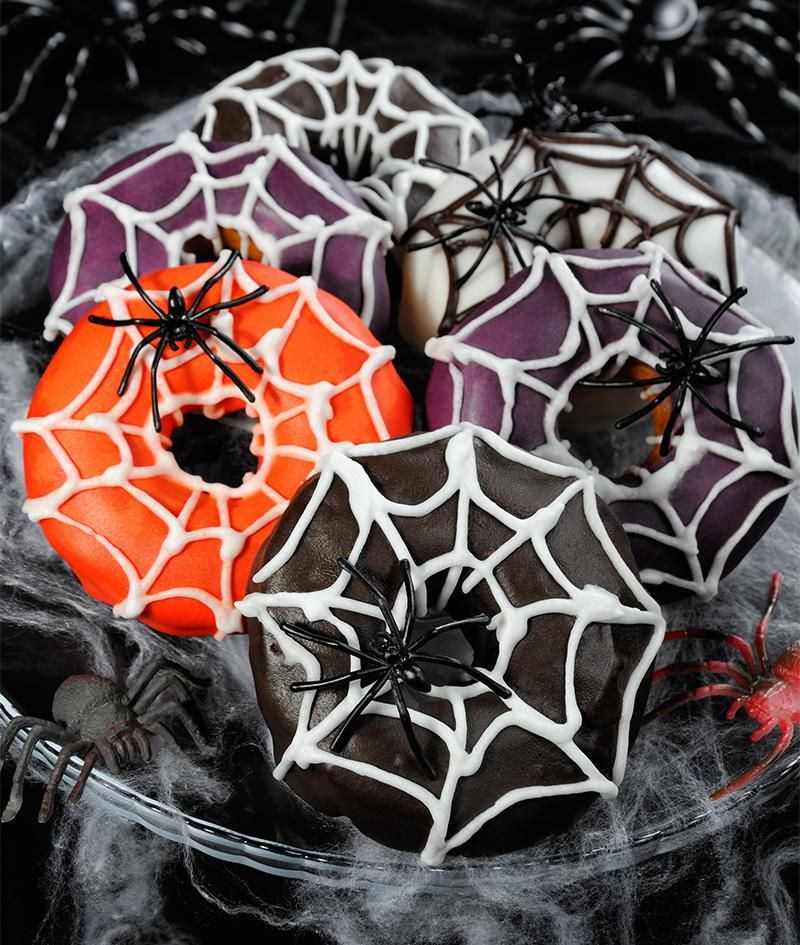 Halloween Donuts backen #halloweencakes