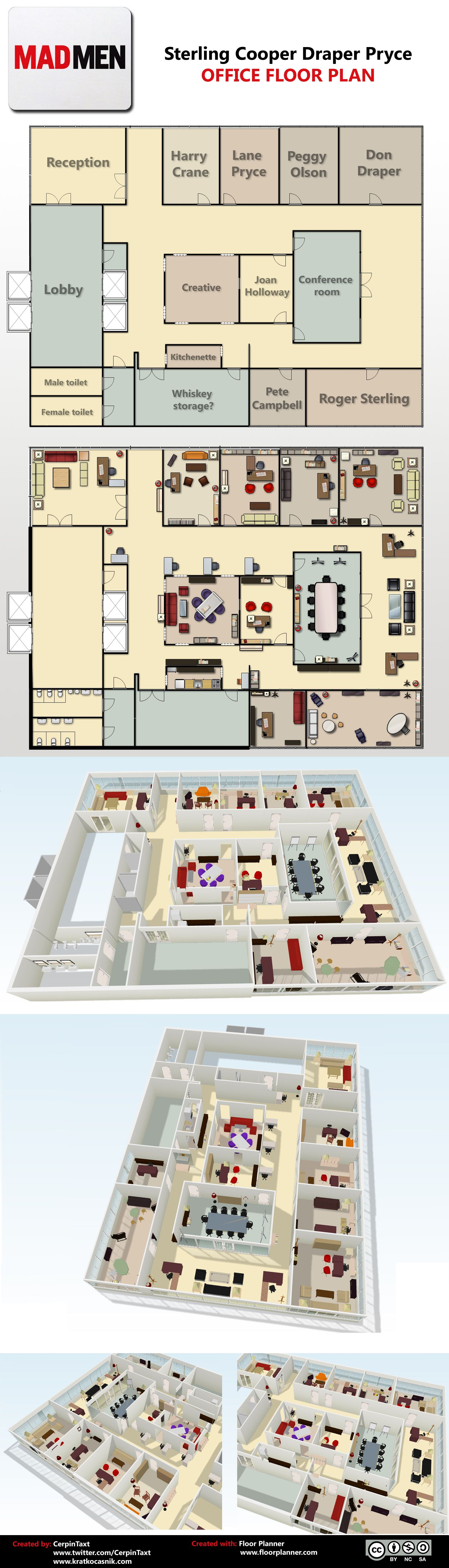 Mad Men Office Floor Plan I Love That There Are People As