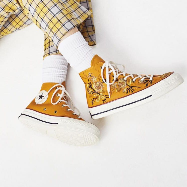 ba4ca32469ce Converse Launches Ethereal Line of Embroidered Sneakers Covered in Flowers   needlearts  embroidery
