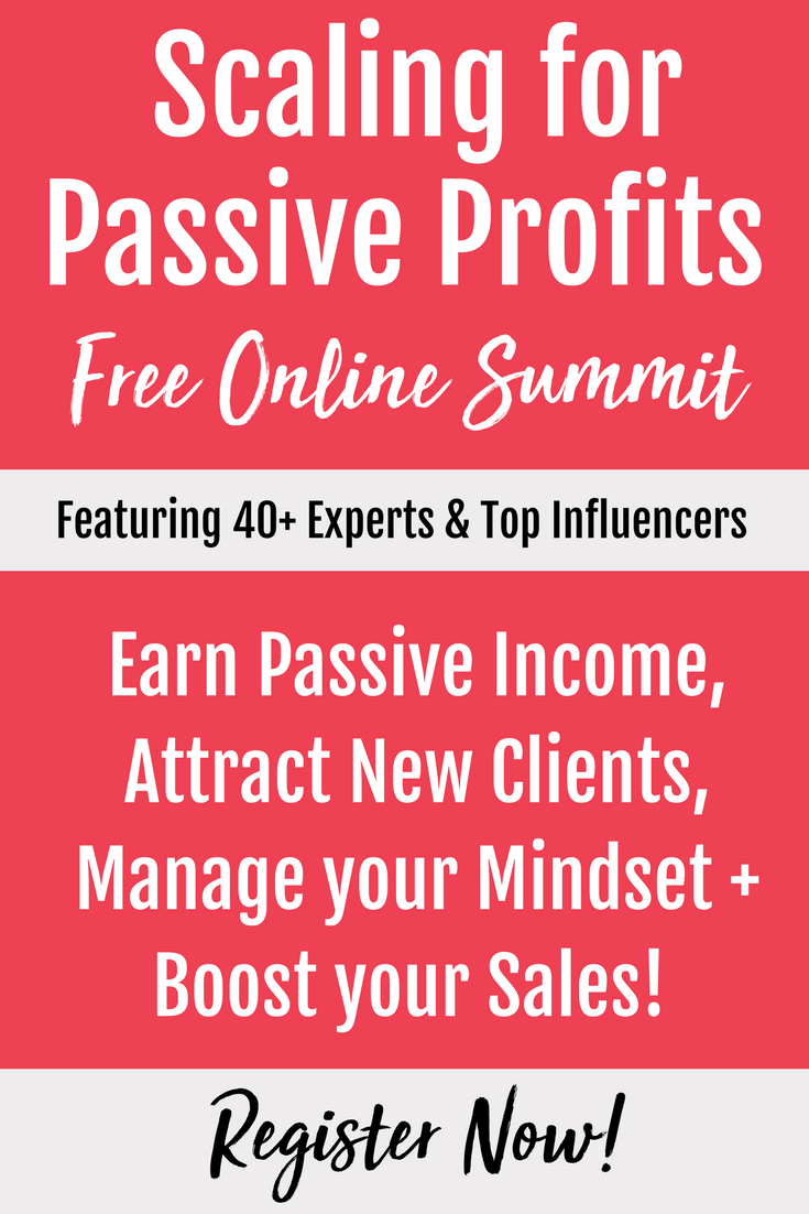 Scaling For Passive Profits Summit Pinterest For Business