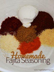 Slow Cooker Recipes #homemadefajitaseasoning