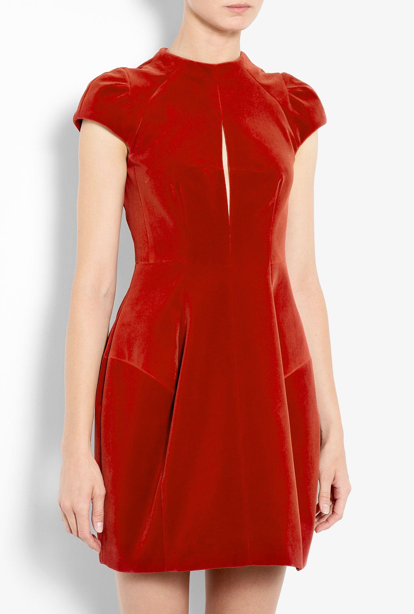 029d87fd86 Carven red velvet dress