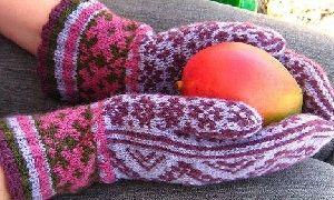 варежки с орнаментом схемы для вязания вязание варежки носочки