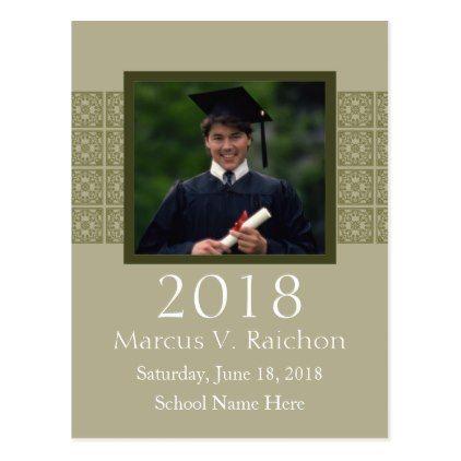 2018 photo graduation invitations light color graduation postcards