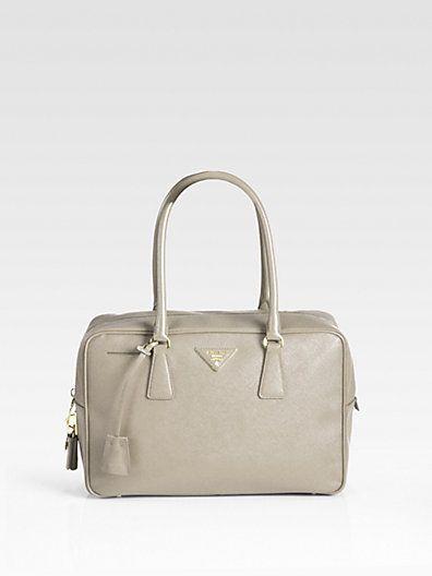 b1e64b138b77 Prada - Saffiano Bauletto Tote Bag - Saks.com