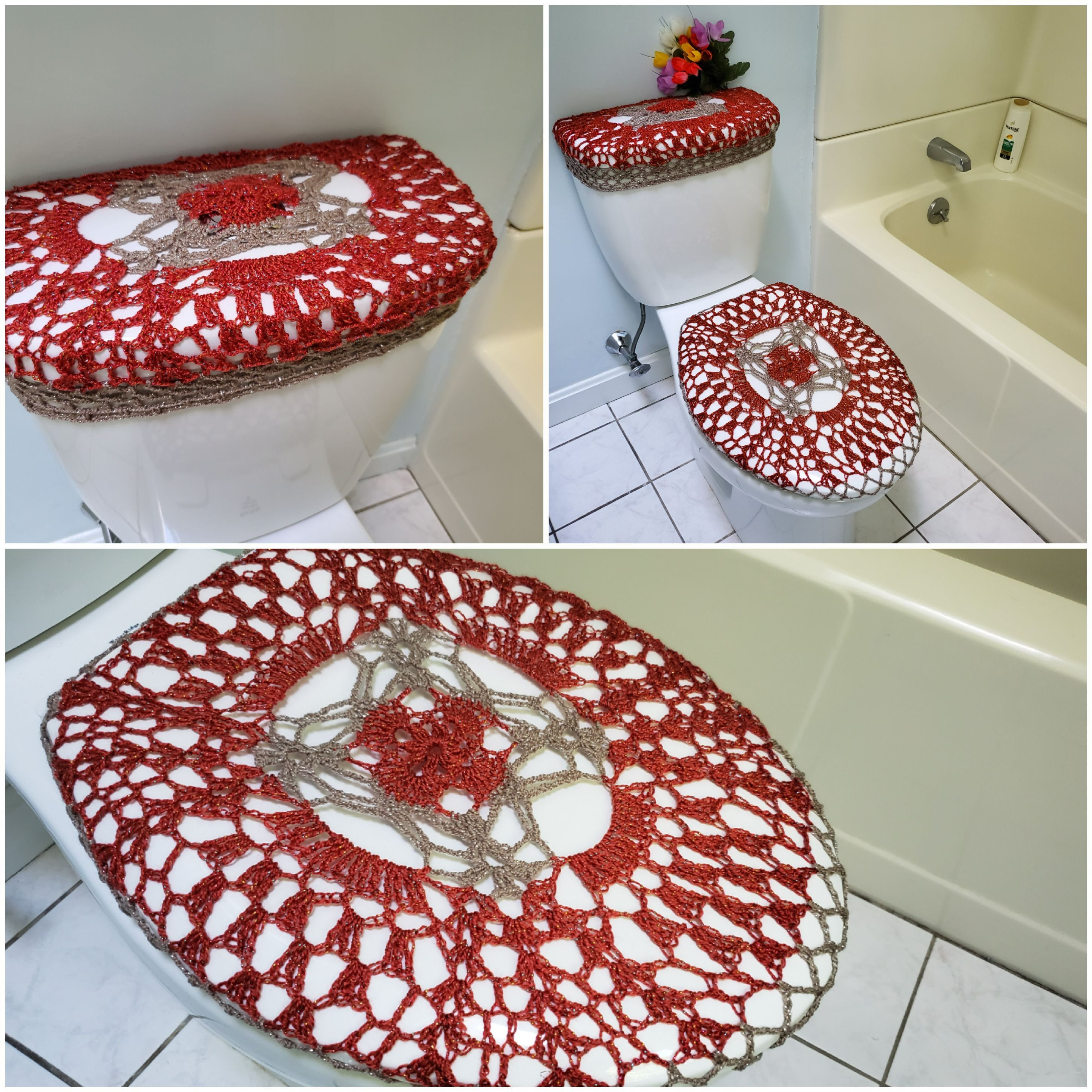 Toilet Seat Covers Tank Lid Covers Crochet Toilet Seat Cover Or
