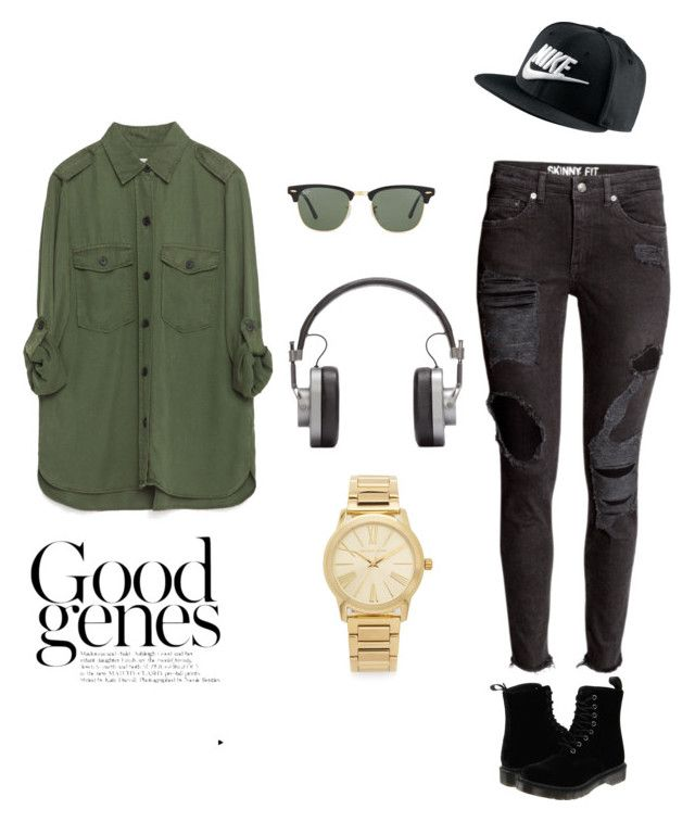 """""""Untitled #27"""" by mikaylapressley9 on Polyvore featuring Zara, NIKE, Dr. Martens, Ray-Ban, Master & Dynamic, Michael Kors, women's clothing, women, female and woman"""