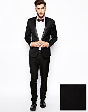 Immagine 1 di ASOS Skinny Fit Tuxedo Black Suit | Shopping ...