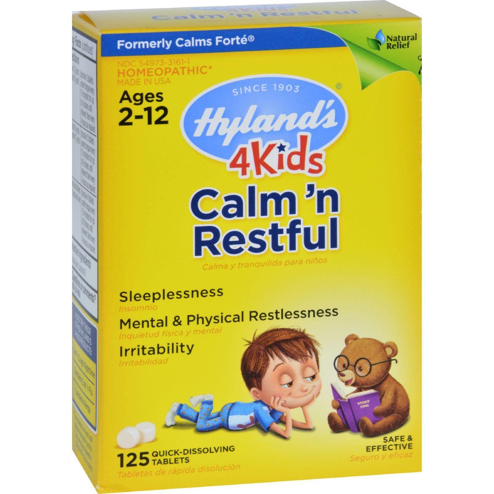 125 Tablets 4 Kids Hyland/'s Calms /'n Restful