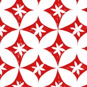 Block print fabric by Joan McGuire, on Spoonflower