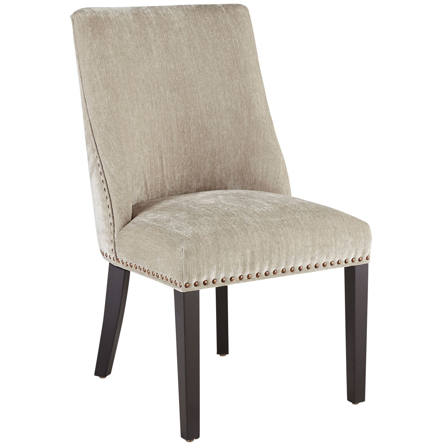Corinne Velvet Wheat Dining Chair with Black Wood Dining