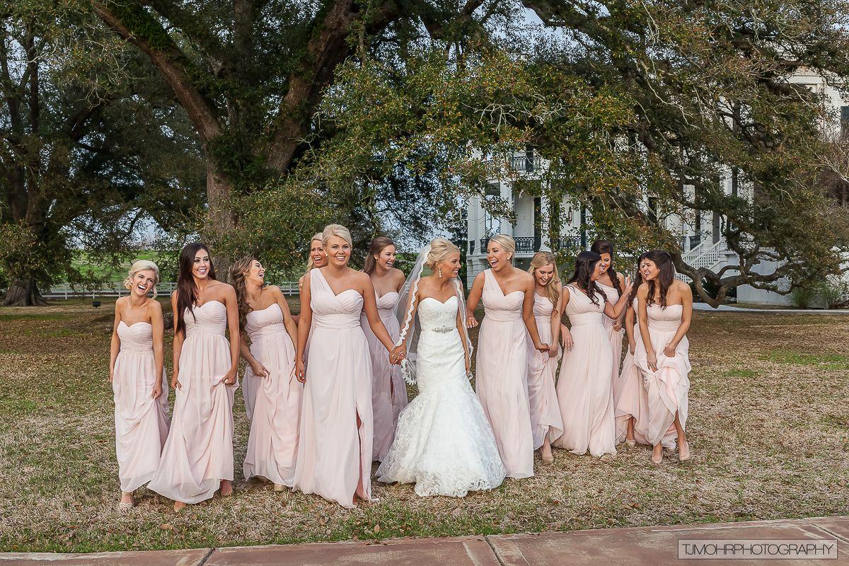 Loving the blush dresses! @ Nottoway Plantation