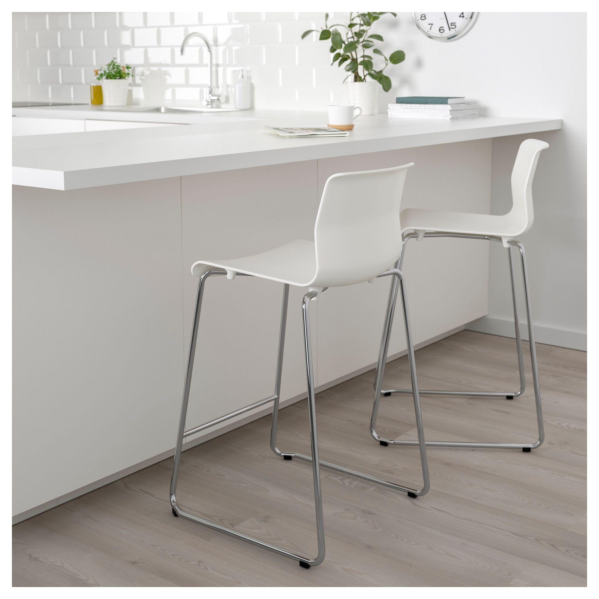 Amazing Ikea Glenn White Chrome Plated Bar Stool White Bar Stools Pdpeps Interior Chair Design Pdpepsorg