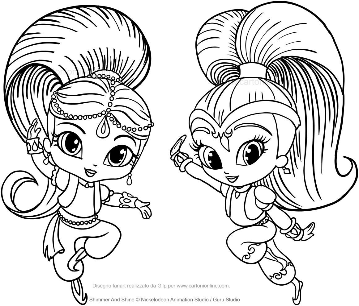Amazing Inspiration Ideas Shimmer And Shine Coloring Pages Shimmer