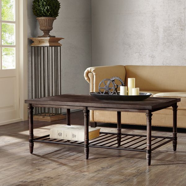 50 Inch Renate Tail Table In Coffee Brown With Rack