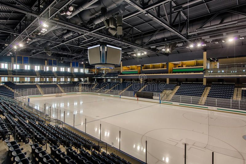 Empty Hockey Arena Empty Stands Of A Large College Hockey Arena Ad Arena Hockey Empty College Large Ad Hockey Arena College Hockey Hockey