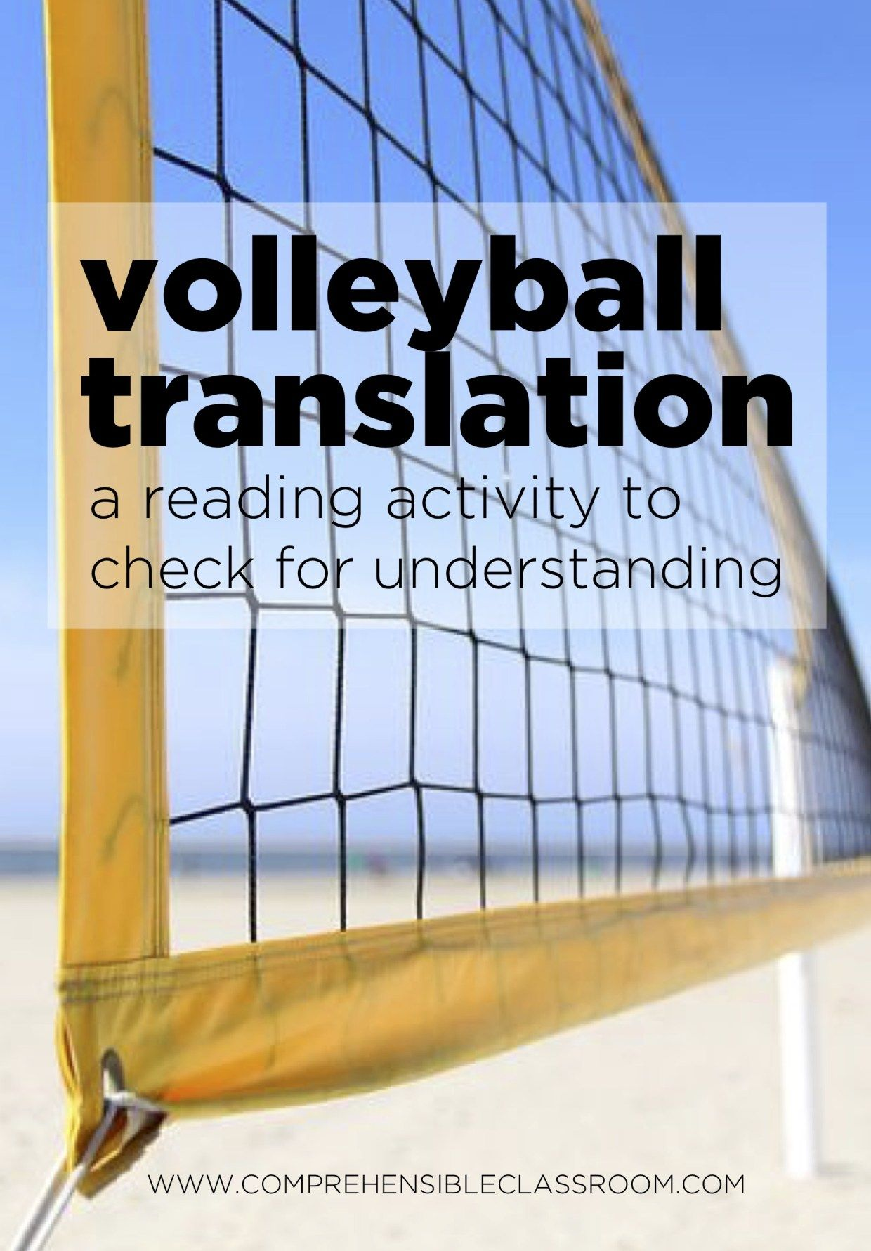 Volleyball Translation Learning Sight Words Spanish Classroom Activities Reading Activities