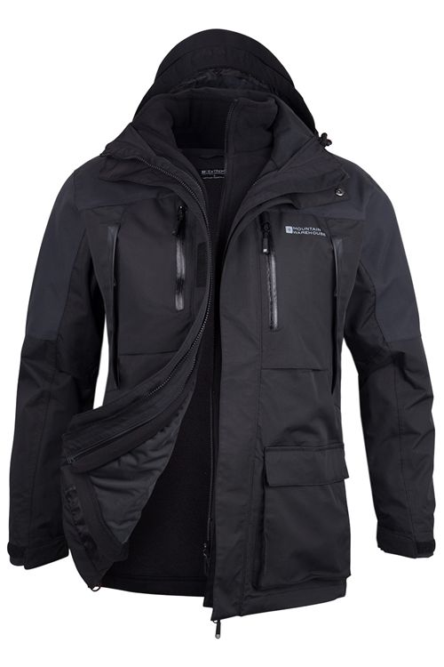def87010c Correspondent Extreme Mens 3 in 1 Waterproof Jacket. Mountain Warehouse.