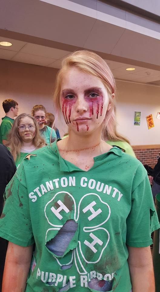 I did Crying Zombie 1 make up -MacL Halloween Ideas Pinterest - zombie halloween ideas