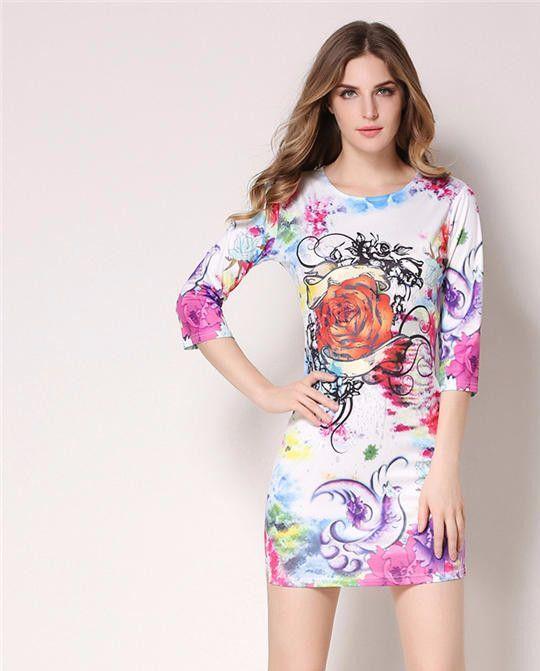 Women Print Letter Sexy Bodycon sheath mini dress