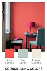 Pink Salmon Paint From Glidden This Color With Natural Wicker For Kenzlies Room