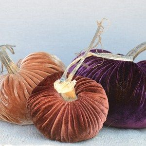 Velvet Plush Pumpkin Fall Jewels Trio by LoveFeast - it was hard to choose which color set I liked best, but at $84 a set, I'm not going to be needing to make that decision any time soon. ;-)