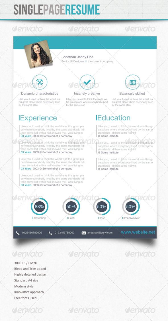 Standard Font Size For Resume Simple Resume  5  Pinterest  Simple Resume Simple Cv And Template