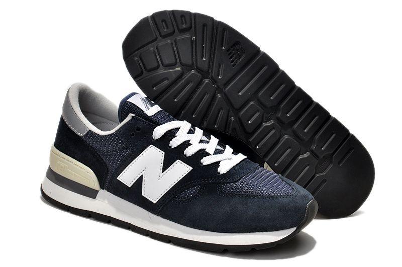 7c472d957 Homme New Balance M 990 N Chaussures Bleu Foncé Blanc Outlet | New ...
