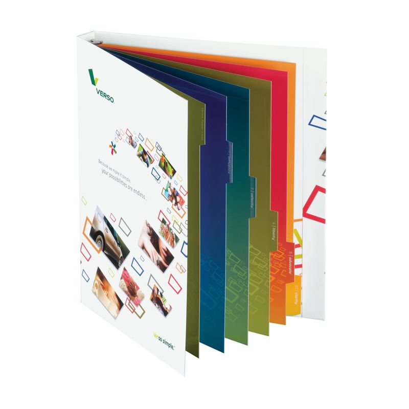 presentation ring folder, presentation binder - Corporate Image - resume holder
