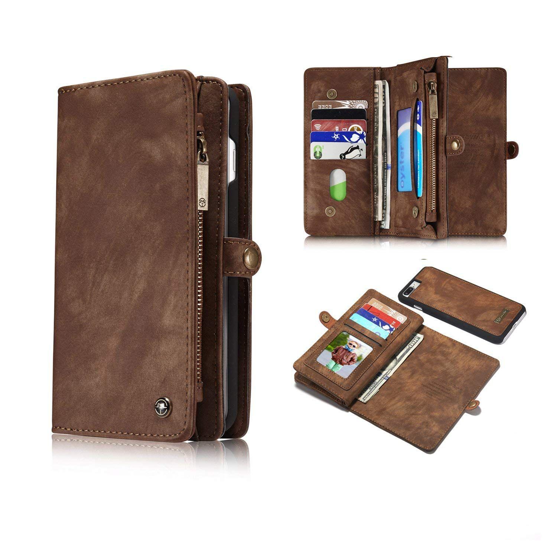 Caseme iphone 8 plus wallet case brown leather wallet