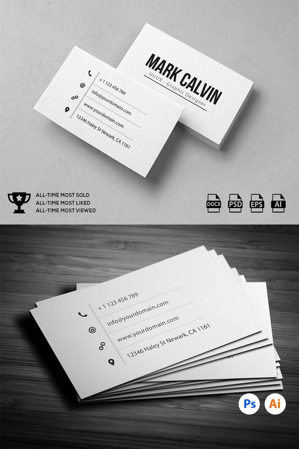 Simple Individual Business Card Business Card Design Minimal Minimal Business Card Business Card Design