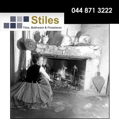 What were your favourite memories as a child in front of the fireplace? Here is depicted a famous photograph of a woman in front of a fireplace in one of the oldest houses in the world. #throwbackthursday #fireplaces #homedecor
