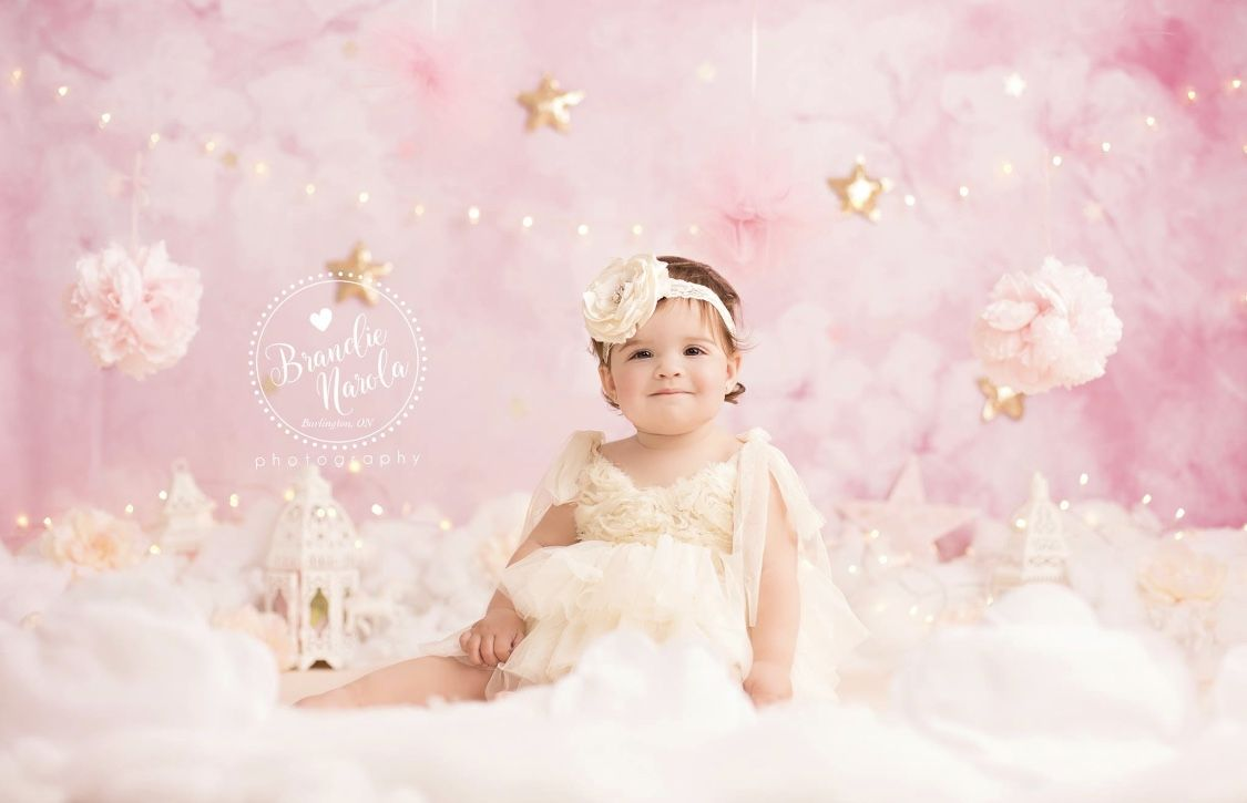 d3d2dc1055cc Pink cake smash girl cloud heaven whimsical unicorn | Cake smash in ...